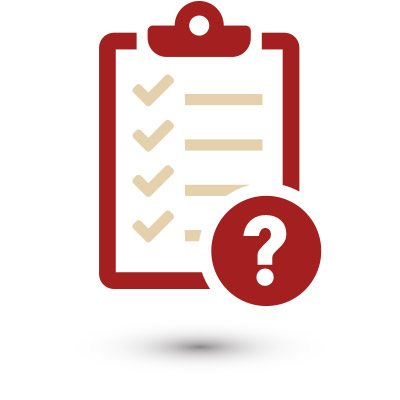 Material selection questionnaire clipboard